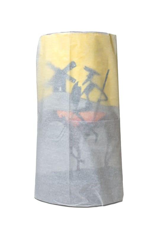 El Quijote – Teja pintada con acrilico y con protección de barniz – Largo 38 cm aproxi.2