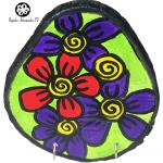 Flores con argollas en madera-01
