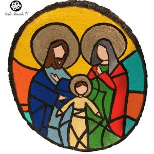 Sagrada Familia en madera de cedro, artesanías de calidad regalosartesanalesv.com