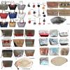 Productos artesanales, Cartera de hilo plástico, cosmetiquera, monedero, billetera de Yute y pompones de lana
